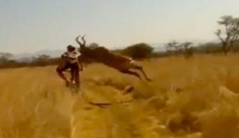 بالفيديو : ظبي يُهاجم سائق درّاجة هوائيَّة في جنوب أفريقيا ومُشاهدة قياسية للفيديو على اليوتيوب