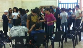 مركز الشَّبيبة (מרכז נעורים) كسرى سميع ينظّم يوم استيعاب لسنة 2012/2013 في المدرسة الشّاملة مُتعدّدة المجالات