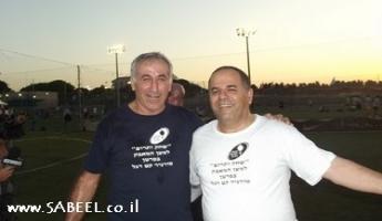 أعضاء الكنيست على ملعب كرة القدم