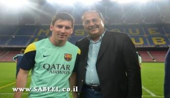 الطيبي يلتقي إدارة فريق برشلونة لإقامة مدارس كرة قدم في البلدات العربية