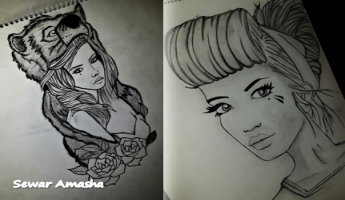 المغار: مجموعة رسومات من إبداع الشّابّة الموهوبة سوار عماشة (18 عامًا)