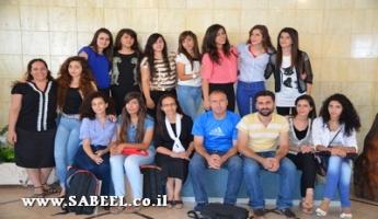 المغار: مراكز الشبيبة (מרכזי נעורים) من الجليل والكرمل تحتفل بتخريج فوج جديد من المُتطوّعات المُرشِدات