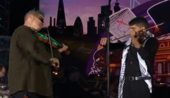عازف الكمان الموهوب ابن المغار مصطفى سعد يتألق إلى جانب الفنان العازف العالمي نايجل كندي في الهايد بارك في لندن