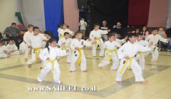المغار : المركز الجماهيري يجري امتحانات في دورة الكراتيه  للأولاد بإدارة المدرب أديب سعد