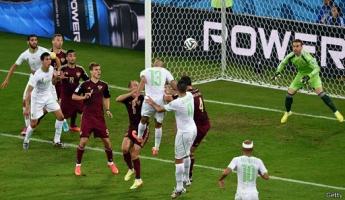 لأول مرة في تاريخه يتأهل منتخب الجزائر في كرة القدم لدور الثمانية بعد تعادله مع روسيا الليلة بالنتيجة 1 : 1