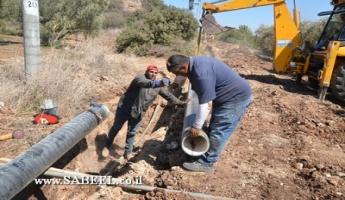 """المغار: جمعيَّة المياه """"بيلچ هچليل"""" تستكمل مشروع الرّي للأراضي الزِّراعيَّة في منطقة الوزيّة في غضون أيّام معدودة"""