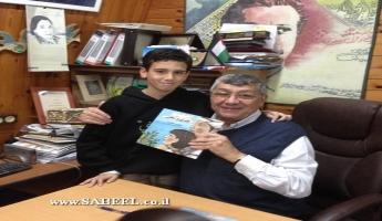 توقيع قصة جدي والبحر للكاتب يعقوب حجازي في قاعة مؤسسة الأسوار