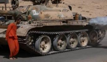 داعش ينفذ أول عملية إعدام لجندي من القوات السورية دهسا بواسطة دبابة