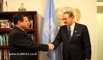 عودة يطرح قضايا المواطنين العرب على القائم بأعمال الأمين العام للأمم المتحدة