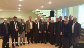 وفد من أبناء الطائفة المعروفية يلتقي القائم بالسفير الروسي في تل ابيب