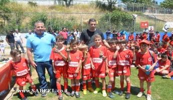المغار : مهرجان بكرة القدم لفرق الأولاد التابعة لهبوعيل تل أبيب من عدة مدن وقرى في الشمال