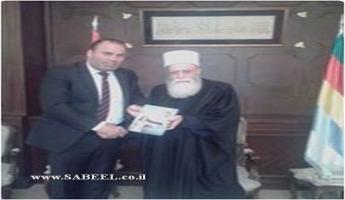 شيخ عقل الطائفة المعروفية نعيم حسن يستقبل في دار الطائفة في فردان اللبنانية، الدكتور كمال الحسيني الرئيس التنفيذي لمؤسسة تكريم شخصية العام