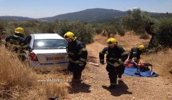 ثلاث اصابات منها البالغة في حادث طرق صعب بالقرب من موران  قبيل قرية الرامة