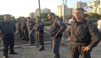 تظاهرتان احتجاجيتان مقابل مستشفى برزيلاي وقوات معززة من الشرطة