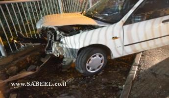 المغار : ثلاث اصابات بين طفيفة ومتوسطة في حادث سير بالقرب من بنك العمال