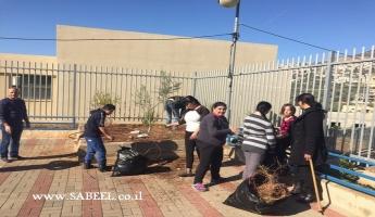 المغار: يوم تطوّعي بمُناسبة عيد غرس الأشجار يقام في مدرسة التّعليم الخاص بمُشاركة مركز الشّبيبة نعوريم