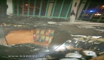 حرق مكتب مدير المدرسة الابتدائية بطوبا الزنغرية