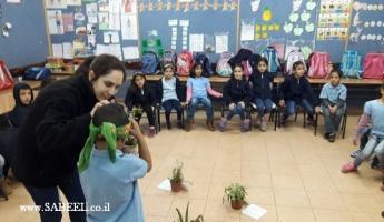 جمعيَّة حماية الطّبيعة تُثري مدرسة النّهضة الابتدائيَّة يركا