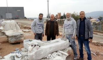 المغار : نادي الروتاري يقوم بزيارة تشجيعية لمهرجان النحت المقام حاليا في المنطقة الصناعية في رأس الخابية