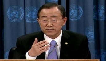 إسرائيل تطالب بان كي مون بأن يستنكر تهديدات نصر الله عن ضرب خزان الأمونيا في حيفا