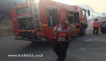 حريق بطبريا والشرطة تخلي احد المطاعم وتغلق الشارع