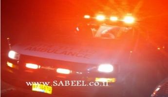 إصابة سائق درّاجة ناريّة بجُروح بالغة لدى اصطدامه بسيّارة جيب عند مدخل المغار الشّماليّ