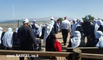 المُسنّون من يانوح جث في رحلة للجولان بتنظيم من جمعيّة حماية الطّبيعة والمركز الجماهيريّ