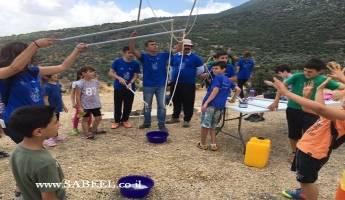 """عين الأسد: """"عين صفوة"""" تحتضن مدرسة البيادر وجمعيّة حماية الطَّبيعة بيوم قمّة بموضوع البيئة"""