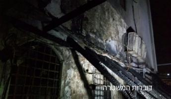شبوب حريق في مسجد الجزار في عكا