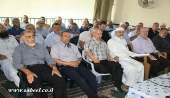 اجتماع بين الائمة وخطباء المساجد في وادي عارة وبين سلطة الاطفاء والانقاذ.