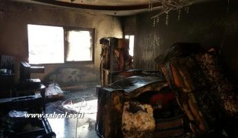 اندلاع حريق في منزل في بلدة أبو سنان وتسجيل 3 إصابات بين متوسطة وطفيفة