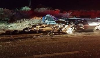 حادث طرق بين باص وسيارة خصوصيه يسفر عن اصابة ثلاثين من ركاب الباص