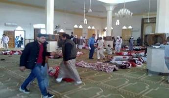 مقتل 235 شخصا بمذبحة إرهابية على مسجد في سيناء