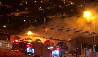 المغار : شبوب حريق في بيت في الحي الشرقي والنيران تلتهم البيت بالكامل