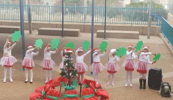 المغار : مع اختتام الفصل الأول احتفلت المدرسة الابتدائية د بعيد الميلاد المجيد