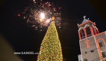 المغار : اضاءة شجرة عيد الميلاد لعام 2017 في احتفال مهيب ومشاركة منقطعة النظير
