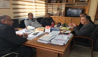 جلسة عمل بين سلطة الاطفاء والانقاذ ورئيس مجلس محلي طرعان السيد عماد دحلة