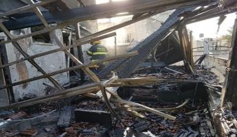 حريق في منزل بمدينة سخنين يأتي على كل محتويات المنزل
