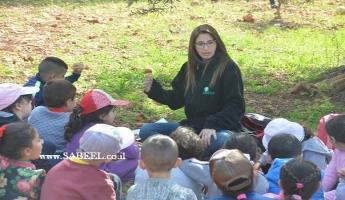 جمعيَّة حماية الطَّبيعة والابتدائيَّة (ب) المغار في فعاليّات في الطّبيعة بمُناسبة حُلول عيد غرس الأشجار