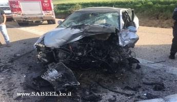 اصابة متوسطة واثنتان طفيفتان في حادث سير بين سيارتين من المغار وعرابة