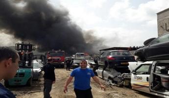 اندلاع حريق كبير في مصنع الحديد في مجد الكروم