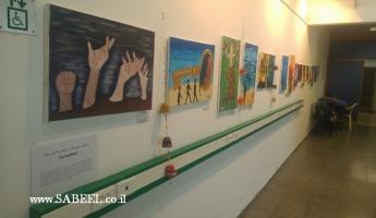 المدرسة الإعدادية ( أ ) المغار  تتألق بمعرض الفنون الثالث