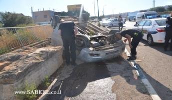 المغار : اربع اصابات لمسافرات من المغار في انقلاب سيارة خصوصية في حادث طرق ذاتي بالقرب من محمص الجليل .