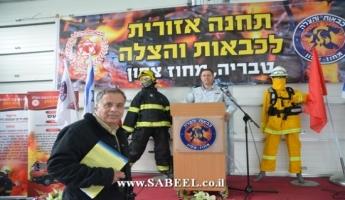 حريق في مجمع للخردة في بلدة المغار و4 طواقم اطفاء وانقاذ من محطة تسلمون تعمل على اخماد الحريق