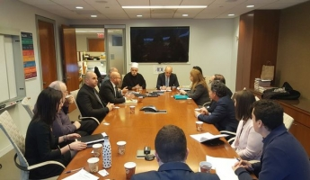 فضيلة الشيخ موفق طريف الرئيس الروحي للطائفة الدرزية في زيارة عملٍ خاصة وبالغة الأهمية للأمم المتحدة والولايات المتحدة الأمريكية