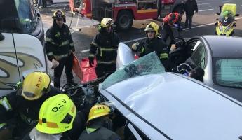 5 اصابات في حادث طرق بين 8 سيارات في طبريا