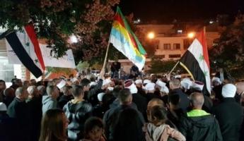 حملة اعتقالات في الجولان تقوم بها الشرطة الاسرائيلية في اعقاب الاعتصام ضد اجراء الانتخابات