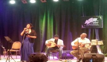 اسرار الجمال تبدع في حفل الموسيقار السوداني شاكر عبد الرحيم بقاعة الحكمة بساقية الصاوى