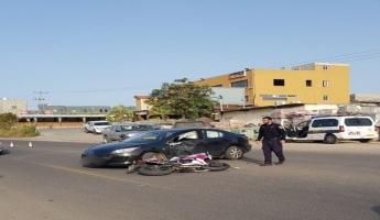 اصابة حرجة لسائق دراجة نارية في حادث طرق اليم في عرابة