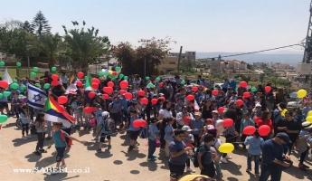 مدرسة المنصورة الابتدائيّة –ج- المغار  يدًا بيد في مسيرة سيّدنا شعيب (ع)